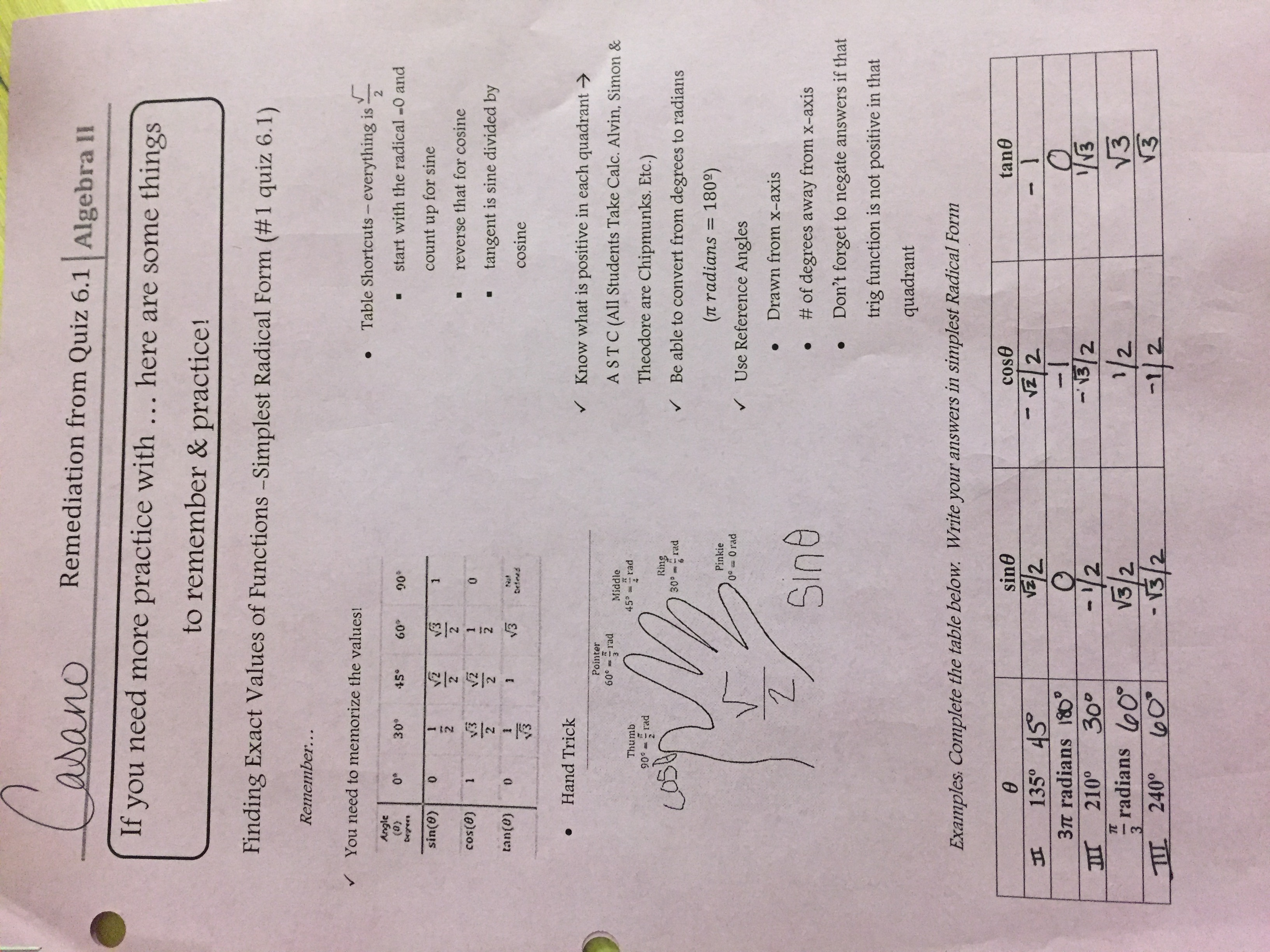 Unit 6 (Trig Functions) - Mrs. Casano's Math Site